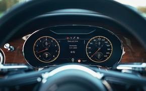 Picture panel, Bentley, devices, the wheel, Flying Spur, 2020, V8, 2021, Flying Spur V8