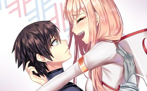 Picture girl, love, romance, pair, guy, two, 002, Darling In The Frankxx, Cute in France, Hiro