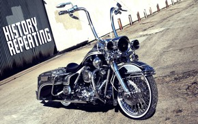 Picture Harley-Davidson, Chrome, Motorcycle, Bagger