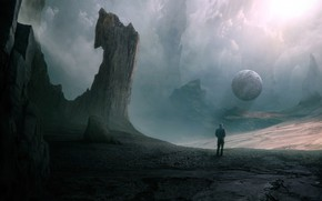 Picture Clouds, Mountains, Rocks, People, Planet, Clouds, Art, Art, Planet, Fiction, Fiction, Mountains, Rocks, Man, Space, …