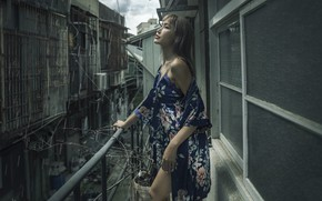 Picture girl, background, Liu Alex