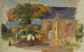 Picture picture, 1902, Pierre Auguste Renoir, Pierre Auguste Renoir, Landscape in Brittany. The house and the …