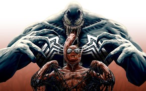 Picture art, comic, Spider-man, MARVEL, Spider-Man, Venom, Venom