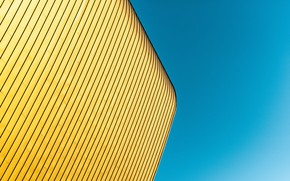 Picture the sky, the building, minimalism, angle