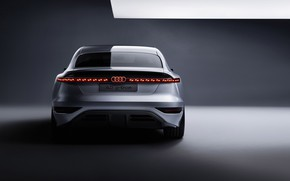 Picture auto, lights, shadow, light, silver, metal, metal, audi a6, and tron, concept 2021