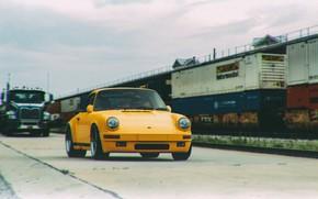 Picture Auto, Yellow, Porsche, Machine, Porsche 911, Vintage, 1980, by Giacomo Geroldi, Giacomo Geroldi, Vintage Render …