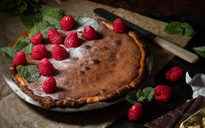 Picture berries, chocolate, pie