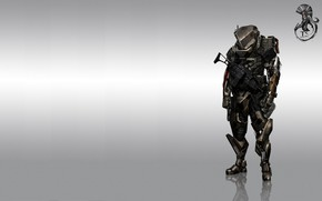 Picture fiction, figure, soldiers, armor, the exoskeleton