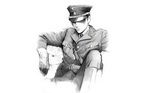 Picture look, figure, art, form, cap, Attack Of The Titans, Shingeki No Kyojin, strict, Levi Ackerman, …