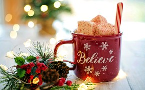 Picture design, new year, Cup