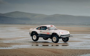 Picture sand, water, coast, 911, Porsche, tide, 964, AWD, Singer, twin turbo, 2020, 2021, Singer Vehicle …