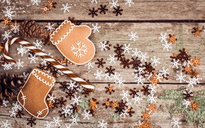 Picture snowflakes, holiday, gingerbread, Christmas