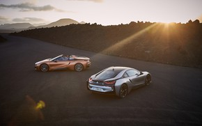 Picture sunset, Roadster, Coupe, 2018, BMW i8