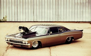 Picture Car, Chevy, Impala, Engine, Super Charger, 1965 Year