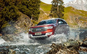 Picture water, squirt, transport, car, Ford Everest