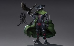 Picture Japan, Eagle, Fantasy, Storm, Warrior, Asia, Cyborg, Armor, Oriental Assassin, Francis Tneh