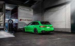 Picture Audi, rear view, RS 4, ABBOT, universal, RS4, 2019, RS4+