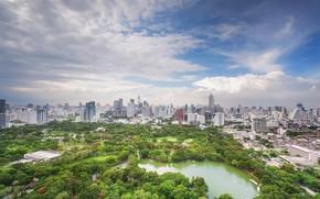 Picture greens, the city, lake, Thailand, Bangkok