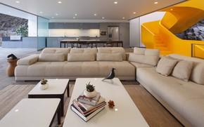 Picture interior, kitchen, living room, dining room, by Martin Dulanto Sangalli, Casa Lapa