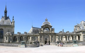Picture the sky, castle, France, Chantilly
