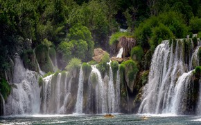 Picture waterfall, stream, Croatia