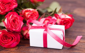 Picture gift, roses, bouquet, Holiday, Valentine's Day