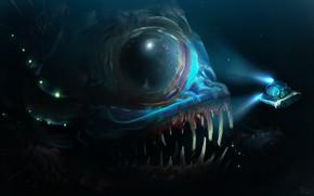 Picture Water, Depth, Fish, Art, Water, Fiction, Illustration, Denis Loebner, by Denis Loebner, Some Spitpaints, Underwater …