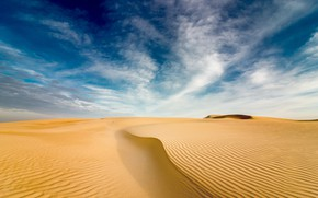 Picture sky, desert, clouds, sand