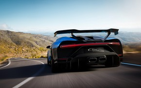 Picture speed, Bugatti, rear view, hypercar, Chiron, 2020, Pur Sport