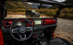Picture 2018, Jeep, Wrangler Rubicon, Wrangler Sahara, the view from the interior