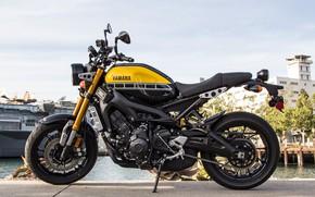 Picture motorcycle, is, Yamaha, moto, wheel, Yamaha XSR900, city bike