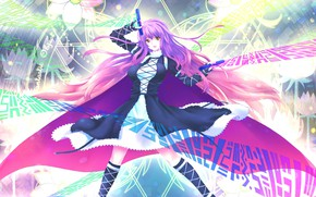 Picture girl, microphone, Vocaloid