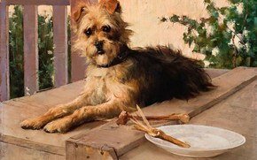Picture picture, DOG, 1890, Lucien Henry, Lucien Henry