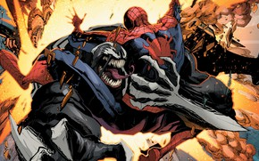 Picture comics, spider-man, Venom, Venom