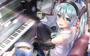 Picture Hatsune Miku, Vocaloid, Vocaloid, Studio, Hatsune Miku