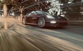 Picture HDR, Porsche, Panamera, Speed, Porsche Panamera Turbo S, Forza Horizon 4, Xbox One x