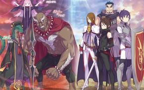 Picture girls, creatures, guys, characters, From scratch, Re: Zero Kara Hajime Chip Isek Or Seikatsu