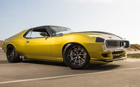 Picture Muscle, Car, Yellow, AMC, AMC Javelin