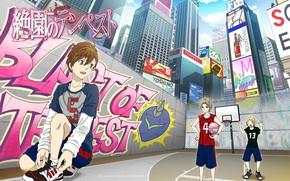 Picture the city, guys, basketball, Zetsuen No Tempest