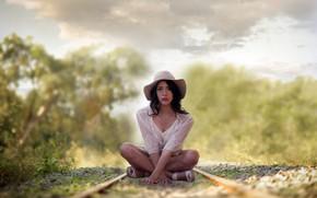 Picture road, girl, Melani Williams