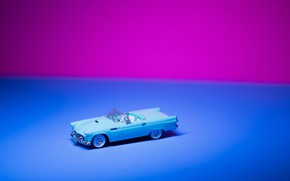 Picture Pink, Car, Blue, Wallpaper, Toy