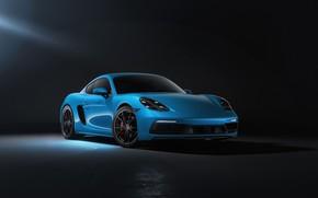 Picture Auto, Blue, Porsche, Machine, Cayman, Blue, Car, Rendering, Transport & Vehicles, Sergey Poltavskiy, by Sergey …