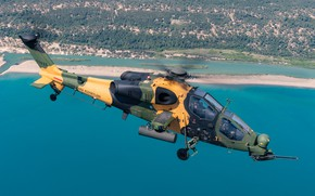 Wallpaper attack helicopter, T-129B, The Turkish air force