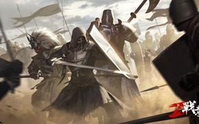 Picture armor, mask, warriors, Conqueror`s Blade