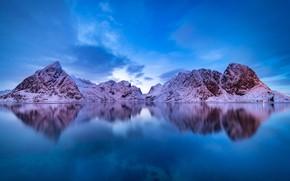 Picture winter, Norway, Lofoten