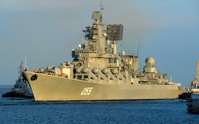 Wallpaper cruiser, rocket, the project 1164, Marshal Ustinov, the Northern fleet