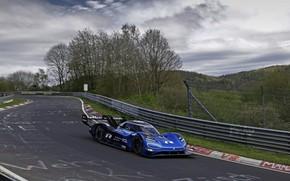 Picture blue, Volkswagen, prototype, prototype, tests, The Nürburgring, Nordschleife, 2019, I.D. R