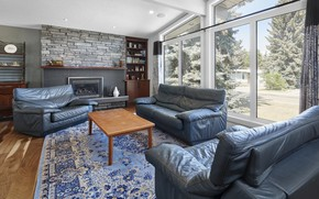 Picture interior, fireplace, living room, home in Edmonton