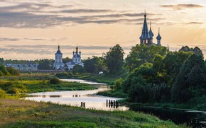 Picture morning, river, Dunilovo, Ivanovo oblast, Andrey Gubanov