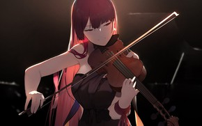 Picture girl, violin, Girls Frontline